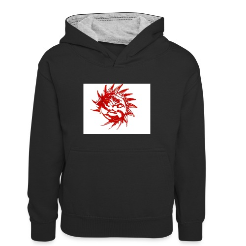 A RED SUN - Teenager Contrast Hoodie