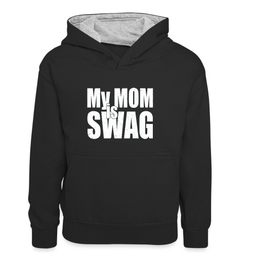 Swag White - Teenager contrast-hoodie