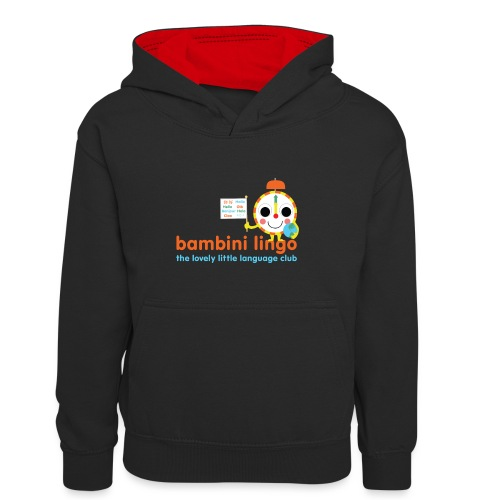 bambini lingo - the lovely little language club - Teenager Contrast Hoodie