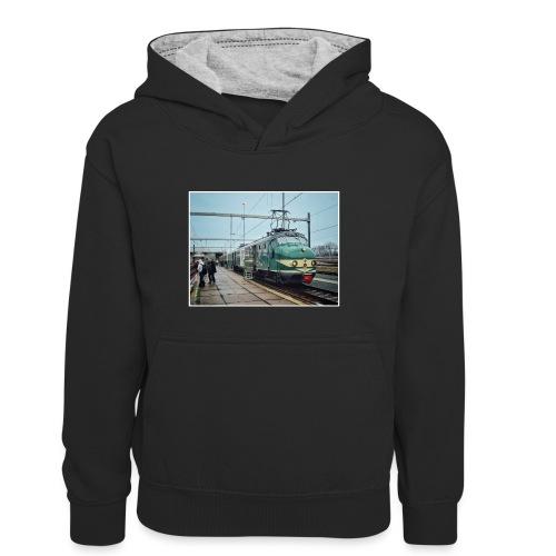 Museumtrein in Amsterdam - Teenager contrast-hoodie