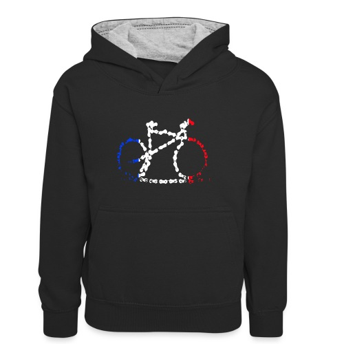 French bike chain - Teenager Contrast Hoodie