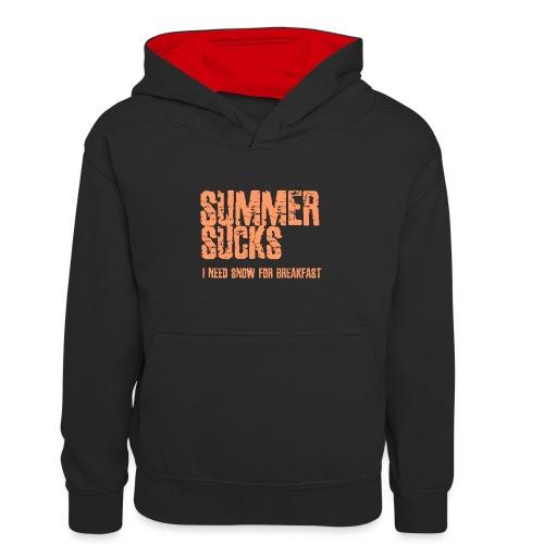 SUMMER SUCKS - Teenager contrast-hoodie