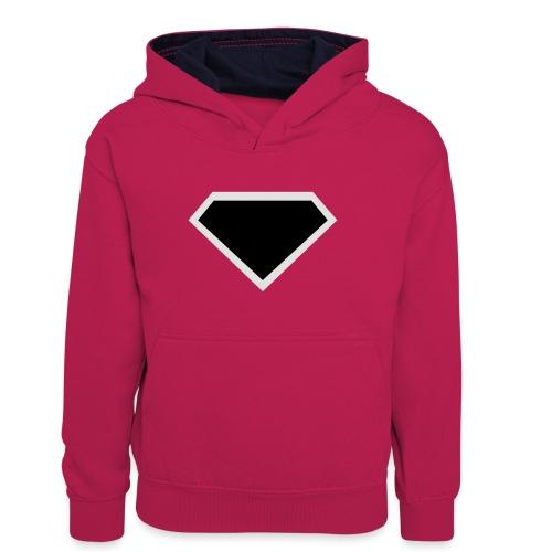 Diamond Black - Two colors customizable - Teenager contrast-hoodie
