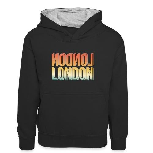 London Souvenir England Simple Name London - Teenager Kontrast-Hoodie