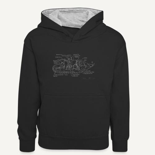 ft17 - Młodzieżowa bluza z kontrastowym kapturem