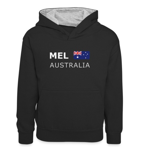 MEL AUSTRALIA white-lettered 400 dpi - Teenager Contrast Hoodie