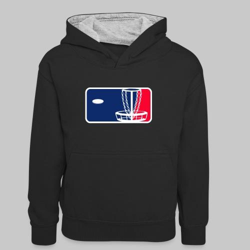 Major League Frisbeegolf - Teinien kontrastivärinen huppari