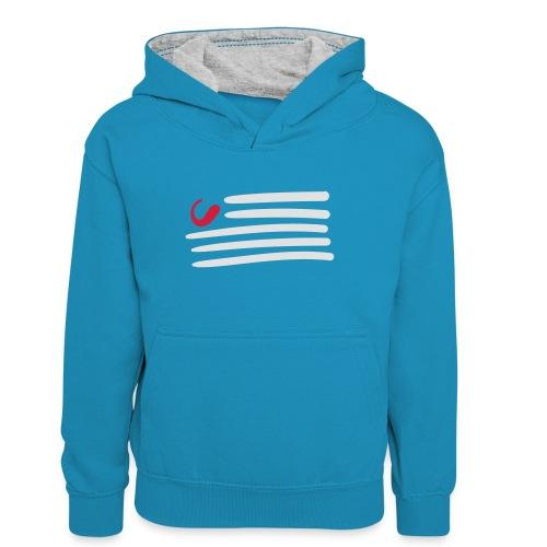 tweede - Teenager contrast-hoodie