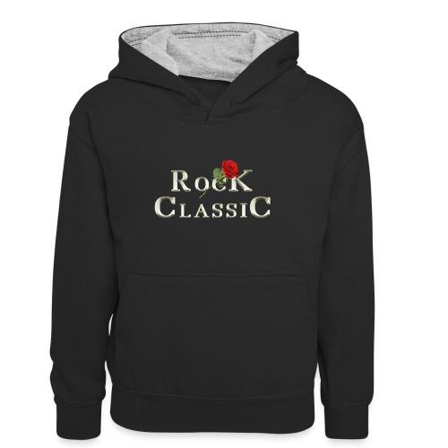 Rock Classic Rose - Teenager Kontrast-Hoodie