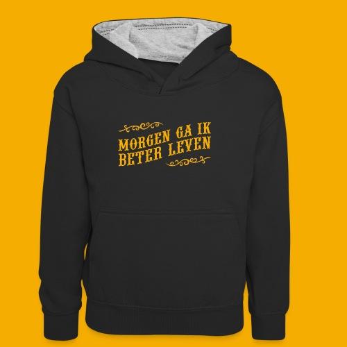 tshirt yllw 01 - Teenager contrast-hoodie