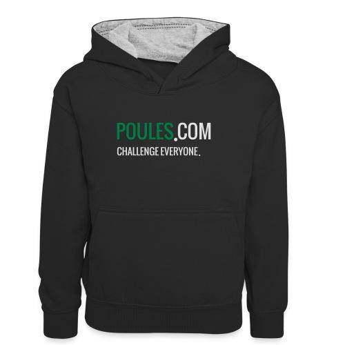Challenge Everyone - Teenager contrast-hoodie