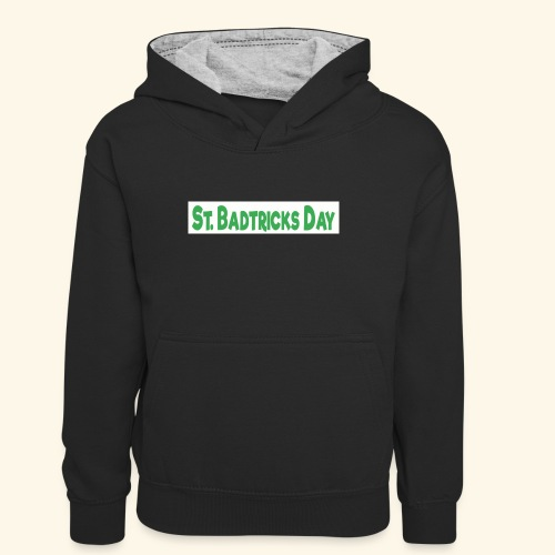 ST BADTRICKS DAY - Teenager Contrast Hoodie