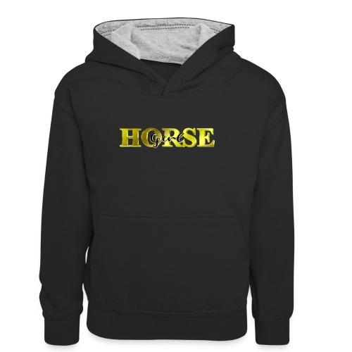 Horsegirl Reiten Pferde Geschenk - Teenager Kontrast-Hoodie