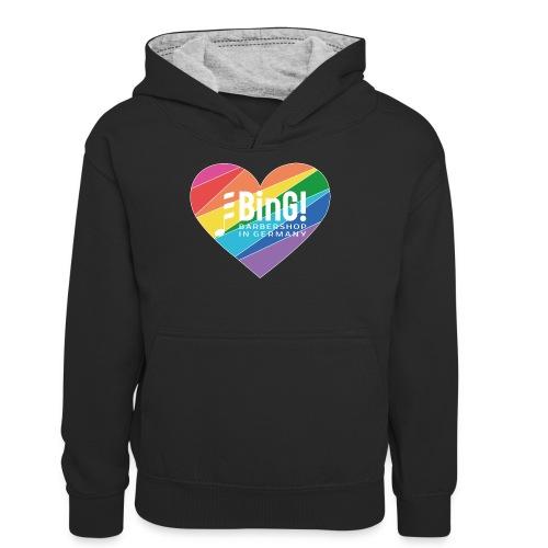 BinG Love Color - Teenager Kontrast-Hoodie