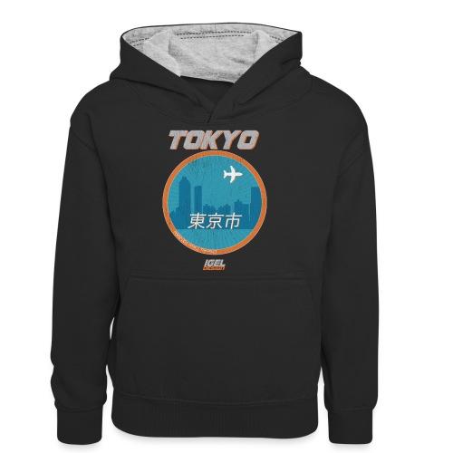 Tokyo - Teenager Kontrast-Hoodie