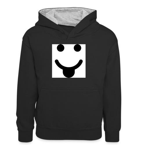 smlydesign jpg - Teenager contrast-hoodie