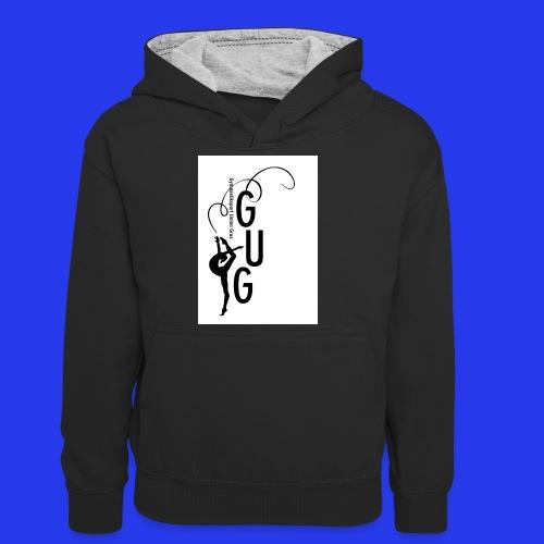 GUG Logo - Teenager Kontrast-Hoodie