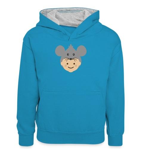 Mr Mousey   Ibbleobble - Teenager Contrast Hoodie