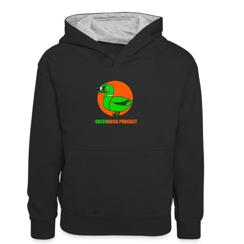 Greenduck Podcast Logo - Kontrasthoodie teenager