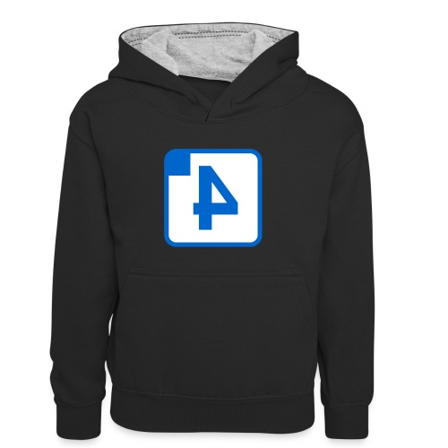 Stationsbord Spoor 4 - Teenager contrast-hoodie