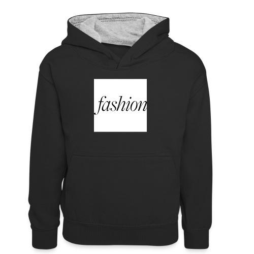 fashion - Teenager contrast-hoodie