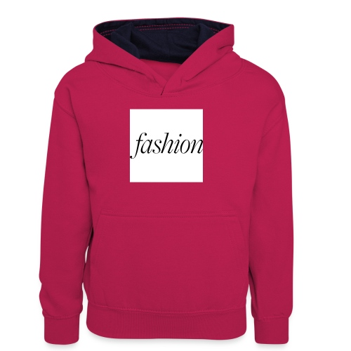 fashion - Teenager contrast-hoodie