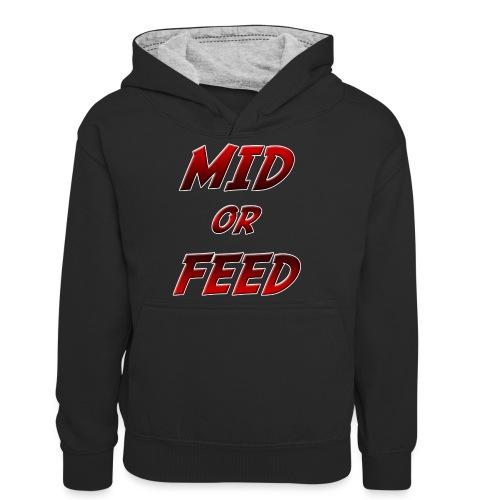 Mid or feed - Felpa con cappuccio in contrasto cromatico per ragazzi
