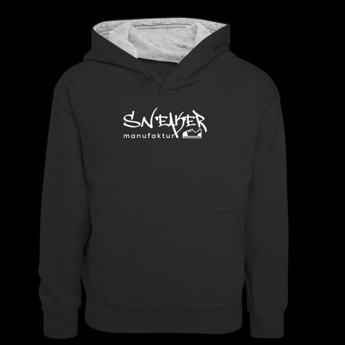 Sneakermanufaktur Linz - black edition - Teenager Kontrast-Hoodie