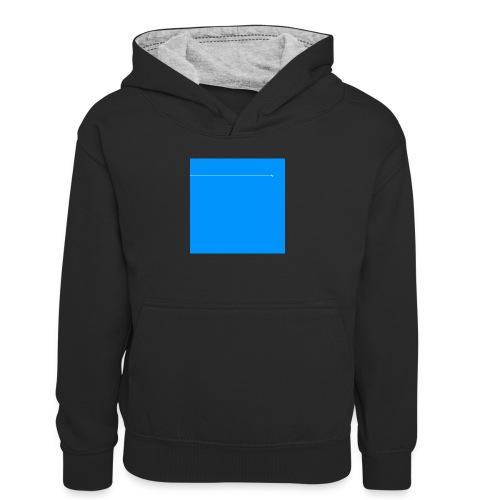 sklyline blue version - Sweat à capuche contrasté Ado