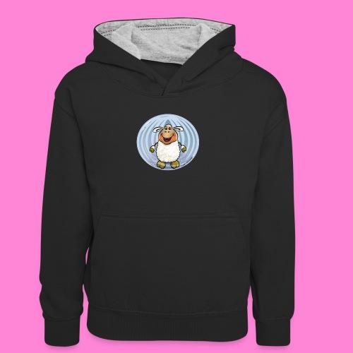 Halloween-sheep - Teenager contrast-hoodie