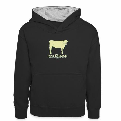 PRO Farming - Felpa con cappuccio in contrasto cromatico per ragazzi
