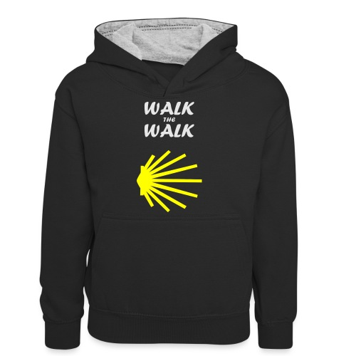 Walk the Walk - Camino de Santiago - Kontrasthoodie teenager