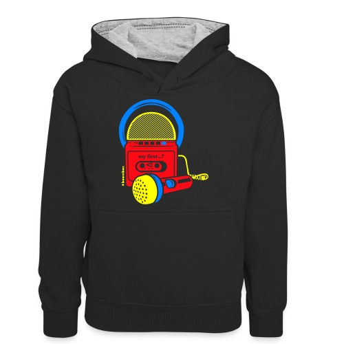 My first Boombox - Teenager contrast-hoodie