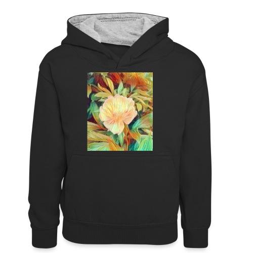 Flower - Teenager Kontrast-Hoodie
