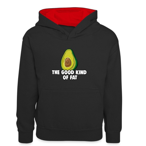 Avocado: The Good Kind of Fat - Teenager Contrast Hoodie