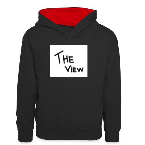 Untitled - Teenager contrast-hoodie