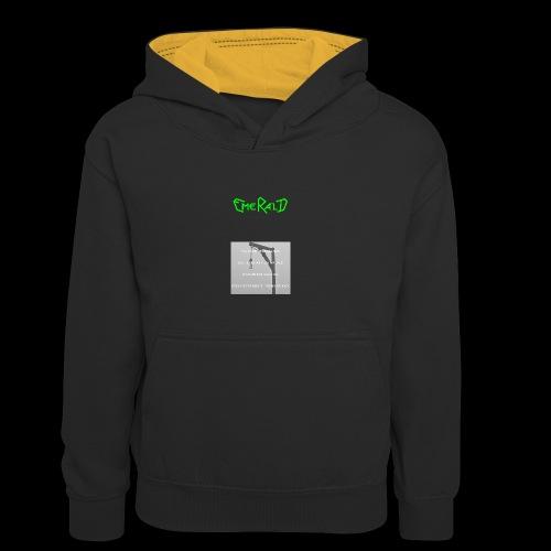 Emerald - Teenager Kontrast-Hoodie
