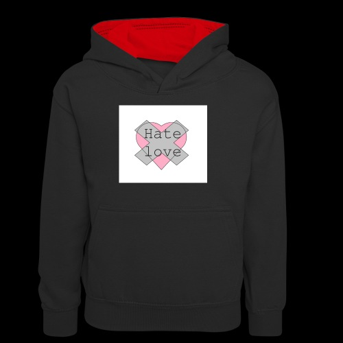 Hate love - Sudadera con capucha para adolescentes