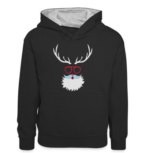 Santa Clauss Eye glasses - Sweat à capuche contrasté Ado