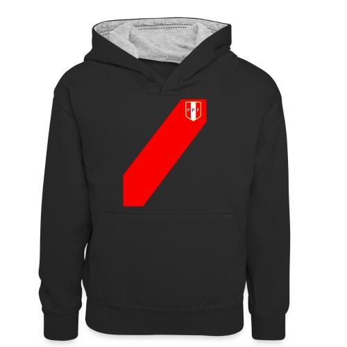 Seleccion peruana de futbol (Recto-verso) - Teenager Contrast Hoodie