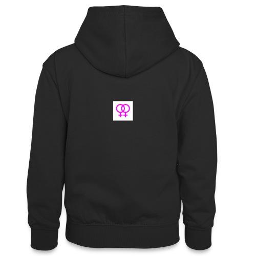 lesbian logo - Sweat à capuche contrasté Ado