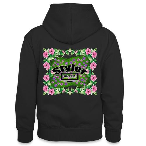 Styler Bloemen Design - Teenager contrast-hoodie