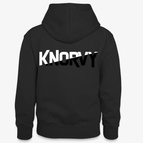 KNORVY - Teenager contrast-hoodie