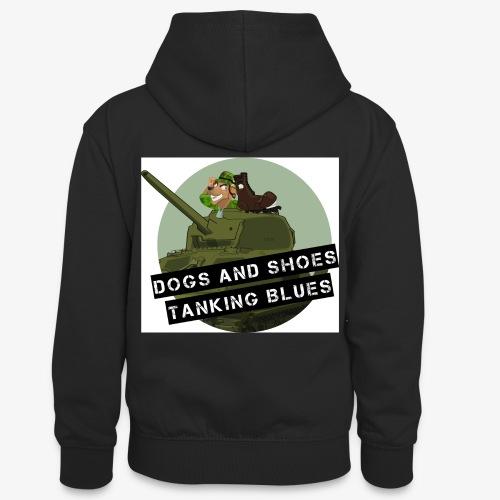 logo dogs nieuw - Teenager contrast-hoodie