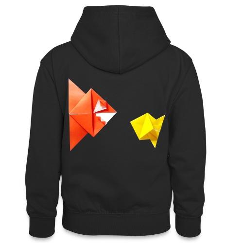 Origami Piranha and Fish - Fish - Pesce - Peixe - Teenager Contrast Hoodie