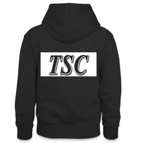 TSC Black Text - Teenager Contrast Hoodie