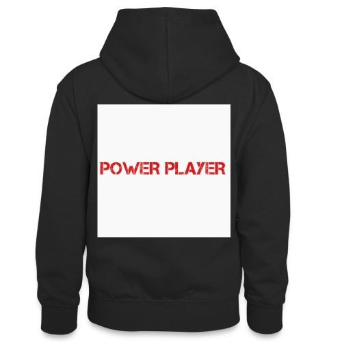 Linea power player - Felpa con cappuccio in contrasto cromatico per ragazzi