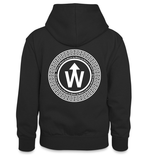 wit logo transparante achtergrond - Teenager contrast-hoodie