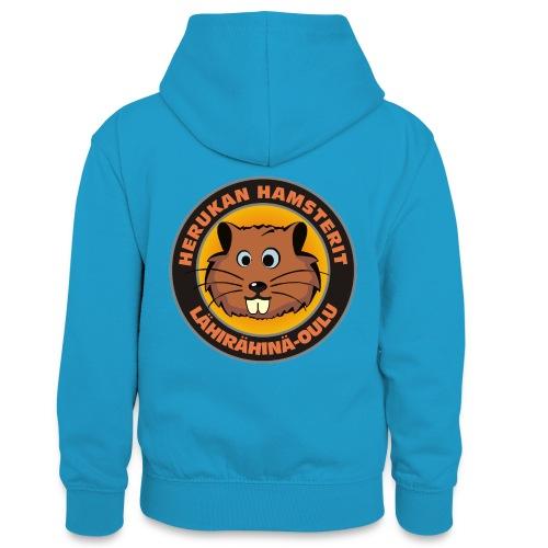 Herukan Hamsterit - Teinien kontrastivärinen huppari