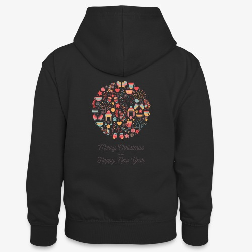 Merry Christmas and Happy New Year - Teenager Contrast Hoodie